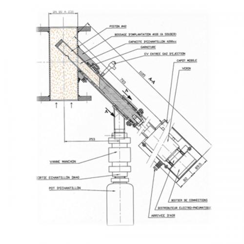 Préleveur-à-piston-sur-transport-pneumatique